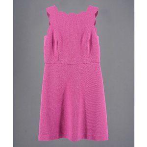 Mauve Sleeveless Scallop Bodice Dress Size 00P